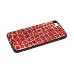 Силиконовый чехол Huawei Honor 7A/Y5 2018 трещины на шершавых блестках, красный