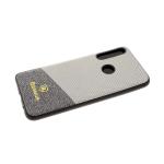 Силиконовый чехол Samsung Galaxy A10 Baseus с плетенкой, серый