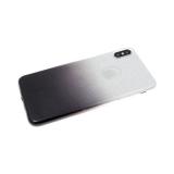 Силиконовый чехол Xiaomi Redmi 7 блестящий с переходом, черный