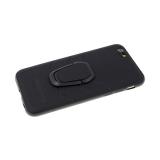 Силиконовый чехол Samsung Galaxy A40  эко-кожа AMG с держателем, черный