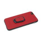 Силиконовый чехол Huawei P SMART Z  эко-кожа AMG с держателем, красный