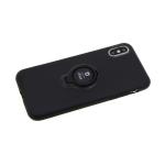 Силиконовый чехол Iphone 11 iFace квадратики с кольцом, черный