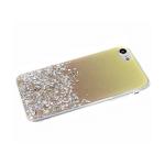 Задняя крышка Samsung Galaxy A40 имитация стекла с блестками и переходом, золотая