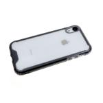 Задняя крышка Samsung Galaxy A50 имитация стекла с прозрачно-цветными краями, черная