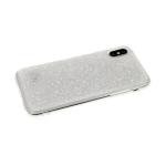 Силиконовый чехол Samsung Galaxy A50 крошка из страз, прозрачный борт,  белый