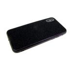 Силиконовый чехол Samsung Galaxy A20 люрекс с блестящим бортом, черный