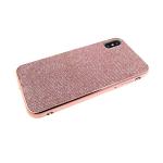 Силиконовый чехол Samsung Galaxy A20 люрекс с блестящим бортом, розовый