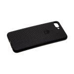 Задняя крышка Samsung Galaxy A30 мелкая плетенка с логотипом, черная