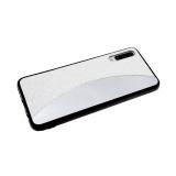 Задняя крышка Xiaomi Redmi 6 Pro/A2 Lite мелкие пайетки с зеркальной вставкой, белая