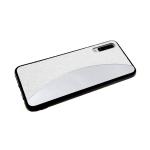 Задняя крышка Samsung Galaxy A40 мелкие пайетки с зеркальной вставкой, белая