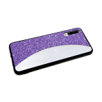 Задняя крышка Samsung Galaxy A40 мелкие пайетки с зеркальной вставкой, сиреневая