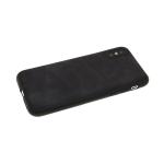Силиконовый чехол Huawei P SMART Z мягкая кожа с тремя прострочками, черный