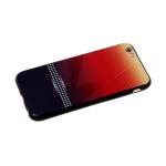 Задняя крышка Huawei Y6 2019 пластик двухцвет, черная полоса в белый горох, красно-черная