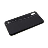 Задняя крышка Samsung Galaxy A40 пластик+кожа, с прострочкой, черная