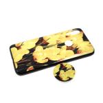 Задняя крышка Samsung Galaxy A40 пластик с принтом, попсокет, желтые цветы