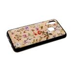 Задняя крышка Samsung Galaxy A40 пластик с рисунком, мелкие цветочки