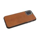 Силиконовый чехол Huawei Y6 2018/7A Pro плетенка Santa Barbara, черный борт, коричневый