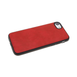 Силиконовый чехол Huawei Y6 2018/7A Pro под кожу DSIONE с полосой, красный