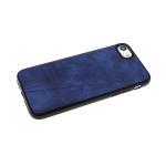Силиконовый чехол Huawei Y6 2018/7A Pro под кожу DSIONE с полосой, темно-синий