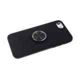 Задняя крышка Samsung Galaxy A40 ребристая с кольцом, черная