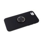 Задняя крышка Samsung Galaxy A20 ребристая с кольцом, черная
