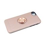 Чехол для Samsung Galaxy A20 ребристая с кольцом, розовое-золото
