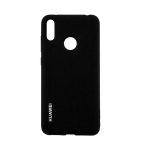Силиконовый чехол Xiaomi Redmi 7a Silicone cover с логотипом, закрытый по периметру, черный