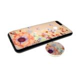 Задняя крышка Samsung J810F Galaxy J8 2018 Sheng Chang, цветы с попсокет, розовые цветы с бабочк