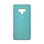 Силиконовый чехол Samsung Galaxy A20/A30 Silicone cover с логотипом, закр, бирюзовый