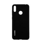 Силиконовый чехол Huawei Honor 9X Silicone cover с логотипом, закрытый по периметру, черный