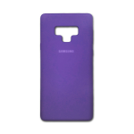 Силиконовый чехол Samsung Galaxy A20/A30 Silicone cover с логотипом, закр, фиолетовый