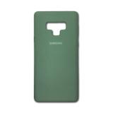 Силиконовый чехол Samsung Galaxy A20/A30 Silicone cover с логотипом, закр, темно-зеленый