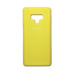Силиконовый чехол Samsung Galaxy A20/A30 Silicone cover с логотипом, закр, желтый