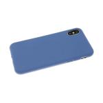 Чехол для Sony Xperia E/C1504/C1505 силикон синий матовый