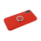 Силиконовый чехол Samsung Galaxy A20/A30 Soft touch матовый с кольцом, красный