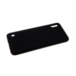 Силиконовый чехол Xiaomi Redmi 7a Soft touch с бархатом внутри, черный
