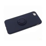 Силиконовый чехол Huawei P SMART Z soft touch с матовым кольцом, темно-синий
