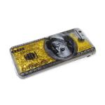 Силиконовый чехол Samsung Galaxy A20/A30 золотые переливашки с рисунком, 100 долларов