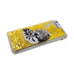 Силиконовый чехол Samsung Galaxy A50 золотые переливашки с рисунком, леопард