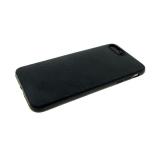 Силиконовый чехол Huawei Honor 8S эко кожа, черный борт, черный