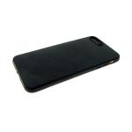 Силиконовый чехол Huawei Honor 8A эко кожа, черный борт, черный