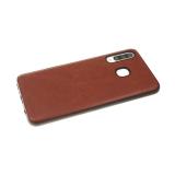 Силиконовый чехол Huawei Honor 9 эко кожа, черный борт, коричневый