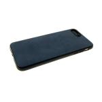 Силиконовый чехол Huawei Honor 10i эко кожа, черный борт, синий