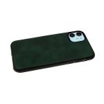 Силиконовый чехол Iphone 5/5S эко кожа, черный борт, зеленый