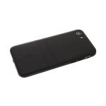 Силиконовый чехол Samsung Galaxy A10 эко-кожа с лого, две полосы, черный