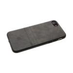 Силиконовый чехол Iphone 11 эко-кожа с лого, две полосы, серый