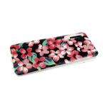 Задняя крышка Samsung Galaxy A30 Hard Vinyl, красные цветы на черном