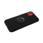 Силиконовый чехол Iphone 11 Pro мягкий Soft touch с кольцом, черный