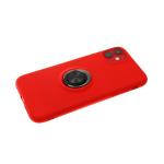 Силиконовый чехол Samsung Galaxy A10s мягкий Soft touch с кольцом, красный
