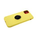 Силиконовый чехол Samsung Galaxy J2 core 2018 мягкий Soft touch с кольцом, желтый